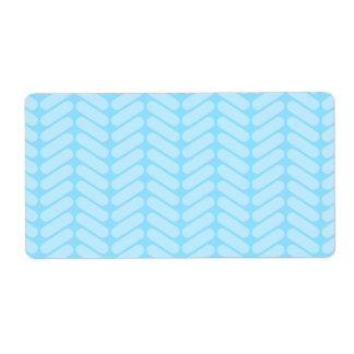 Blue Chevron Pattern, Like Knitting. Label