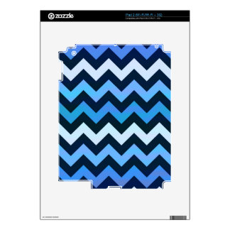 Blue Chevron Pattern Decals For The iPad 2