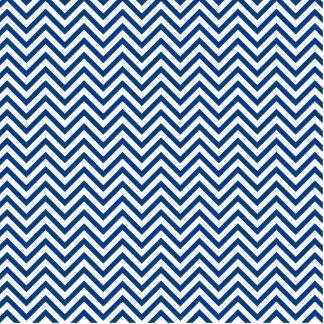 Blue Chevron Pattern Statuette