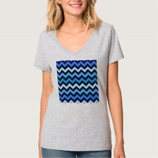 Blue Chevron Pattern T-Shirt