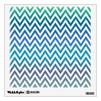 Blue chevron pattern wall decal