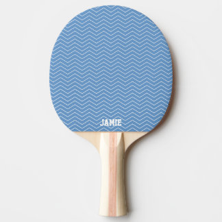 Blue chevron ping pong paddle for table tennis ping pong paddle