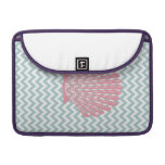Blue Chevron Pink Seashell Sleeve For MacBook Pro