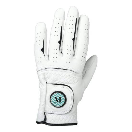 Blue Chevron with Monogram Golf Glove