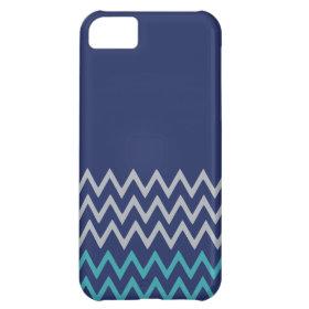Blue chevron zigzag stripes zig zag preppy pattern iPhone 5C covers