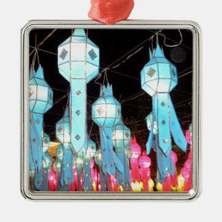 Blue Chiang Mai Metal Ornament