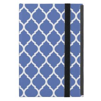 Blue Chic Moroccan Lattice Pattern Cover For iPad Mini