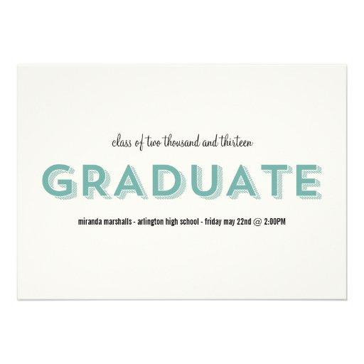 Blue Chic Photo Graduation Announcements