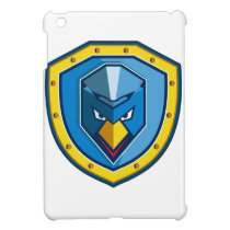 Blue Chicken Mohawk Shield Icon Case For The iPad Mini
