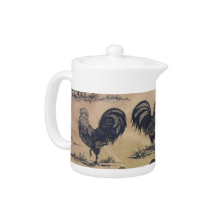 Blue Chickens Teapot