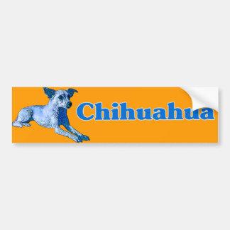 Blue Chihuahua Car Bumper Sticker