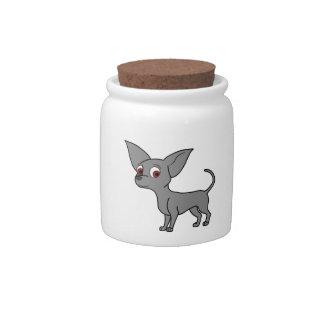 Blue Chihuahua Candy Jars