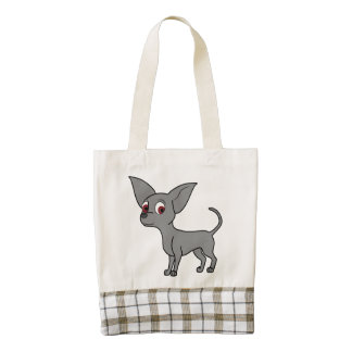 Blue Chihuahua with Short Hair Zazzle HEART Tote Bag