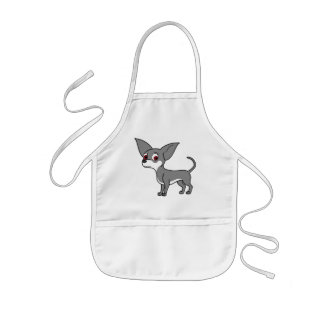 Blue Chihuahua with White Markings Kids' Apron