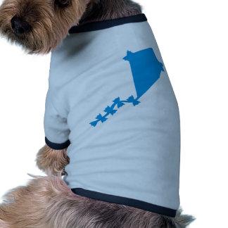 Blue children kite doggie tee