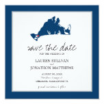 Blue Chilmark Martha's Vineyard Save the Date Invitation
