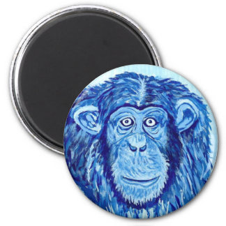 Blue Chimpanzee monkey funny animal Magnet