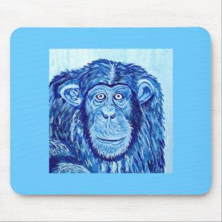 Blue Chimpanzee monkey funny animal Mouse Pad
