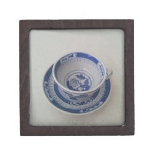 Blue China Tea Cup on Saucer Gift Box