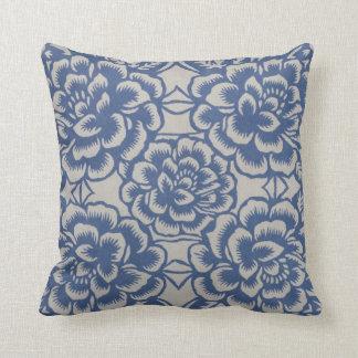Blue China Throw Pillow