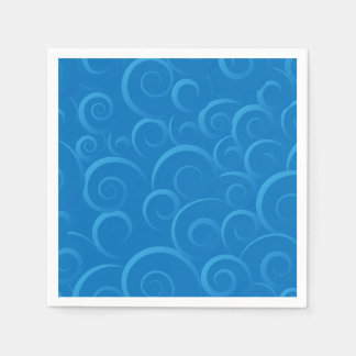 Blue Chinese cloud pattern Napkin