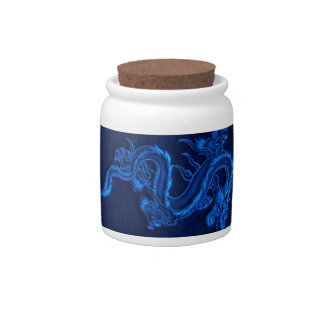 Blue Chinese Dragon Candy Dishes