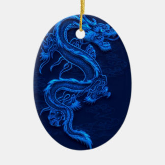 Blue Chinese Dragon Ceramic Ornament