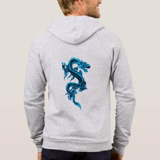 Blue Chinese Dragon Custom Hoodie