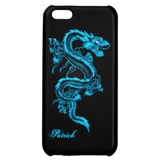 Blue Chinese Dragon iPhone 5 Glossy Case