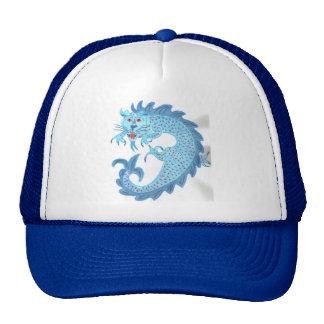 Blue Chinese Dragon Trucker Hat