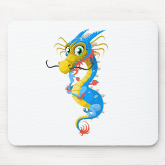 Blue Chinese Dragon Unique Mouse Pad