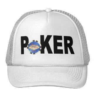 Blue Chip Las Vegas Poker Player Cap Hat