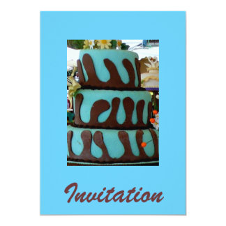 Blue chocolate cake card