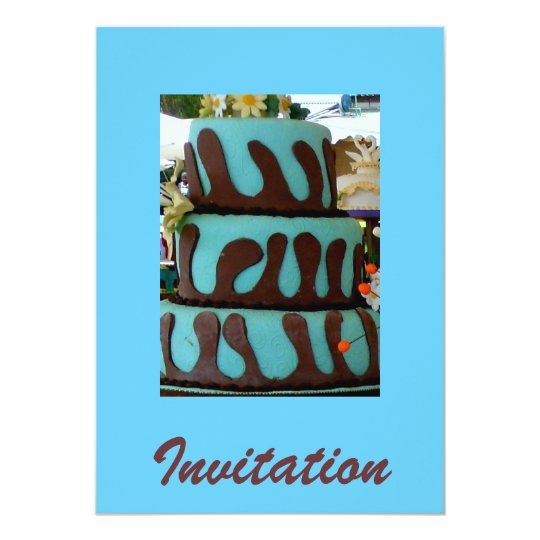Blue chocolate cake card