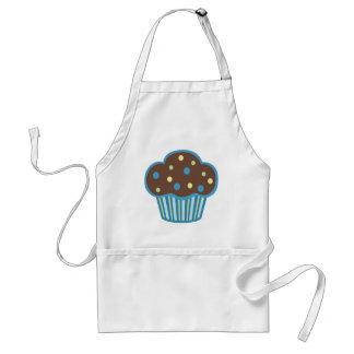 Blue Chocolate Cupcake Adult Apron