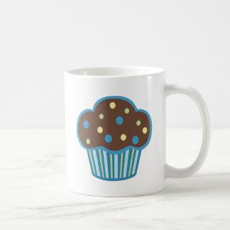 Blue Chocolate Cupcake Classic White Coffee Mug