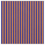 [ Thumbnail: Blue & Chocolate Lines/Stripes Pattern Fabric ]