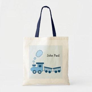 Blue Choo Choo Train Budget Tote Bag