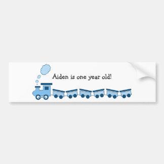 Blue Choo Choo Train Bumper Sticker
