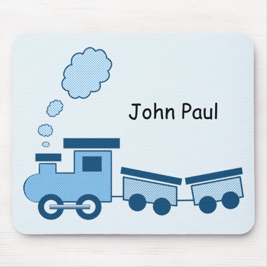 Blue Choo Choo Train Mouse Pad