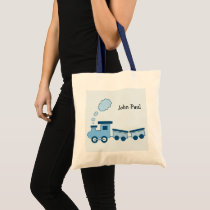 Blue Choo Choo Train Tote Bag