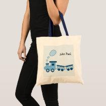 Blue Choo Choo Train Tote Bag