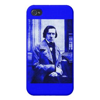 Blue Chopin i iPhone 4 Case