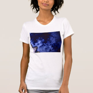 Blue Choppy Clouds and Negative Pine Branches by K T-Shirt