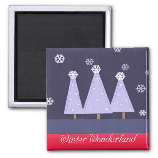 Blue Chrismas Trees Magnet