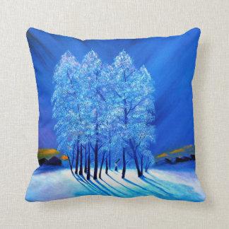 Blue Christmas # 1 Throw Pillow