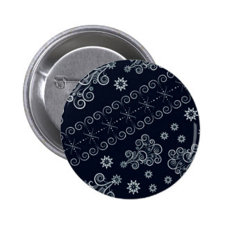 Blue Christmas 2 Inch Round Button