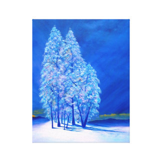 Blue Christmas # 3 Canvas Print