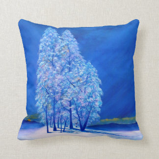 Blue Christmas # 3 Throw Pillow