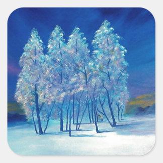 Blue Christmas #4 Square Sticker